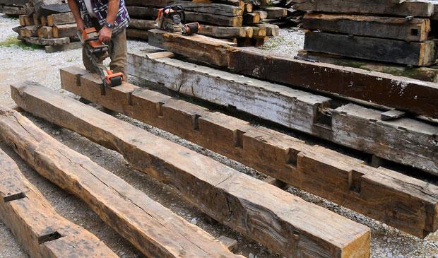 Gesam cantabria derribo recuperaci n y venta de madera y - Vigas de roble antiguas ...